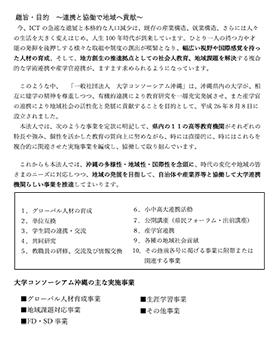 大学コンソーシアム沖縄 リーフレット